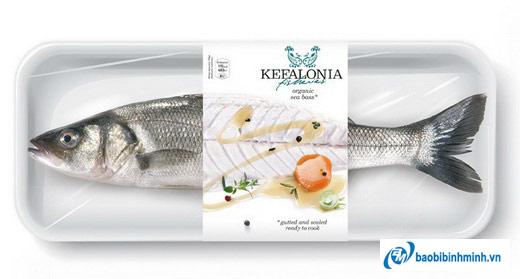 bao bì đống gói Cá Kefalonia