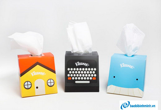 Thiết kế bao bì khăn giấy Kleenex